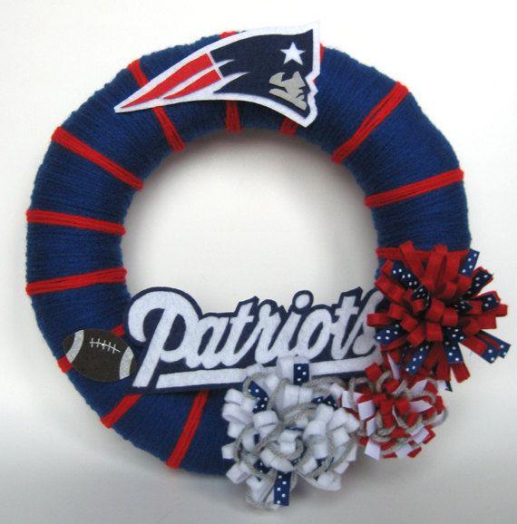 Patriots Football Fan Wreath by ArtfulNovember on Etsy
