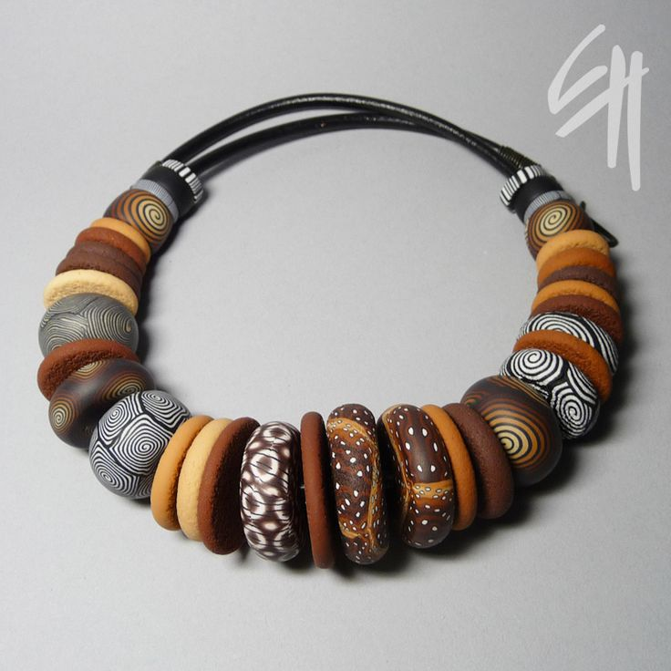 https://flic.kr/p/9pYy1P | Nature Inspiration | Polymer clay jewellery - necklace.