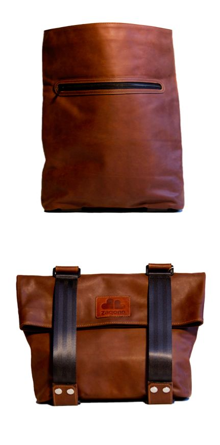 The Pretender 3in1 rustic brown bag by ZagonDesign is a dynamic piece for cyclists. You can change its shape as you wish, you can wear it as a backpack or a shoulder bag, it's up to you! You can even fix it to your bike frame.  www.narvalmarket.com