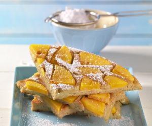 Grieß-Pfannkuchen mit Kokosmilch