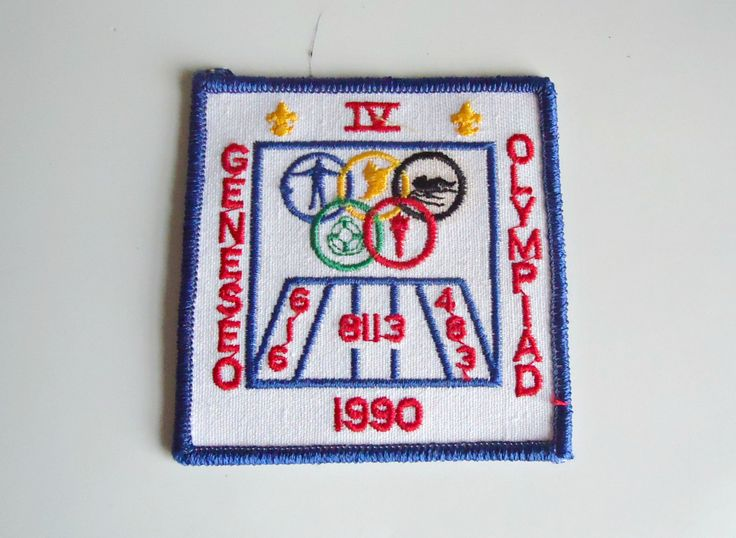 Vintage Boy Scouts Patch Geneseo Olympiad Embroidered Badge 1990 by treasurecoveally on Etsy