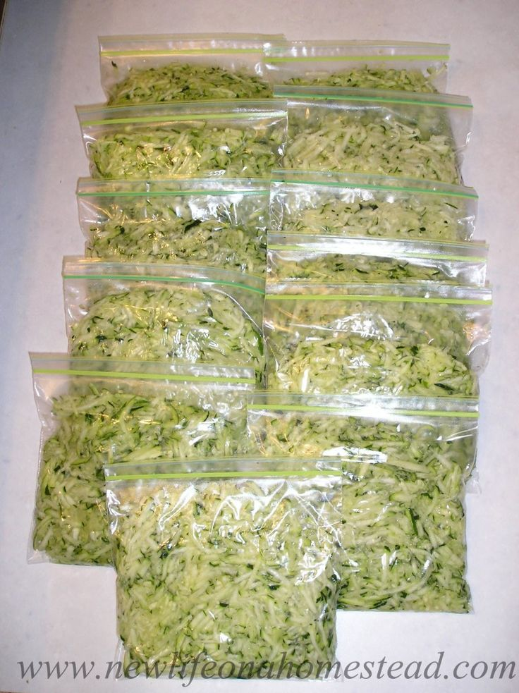 Como a congelar Shredded Zucchini de http://newlifeonahomestead.com