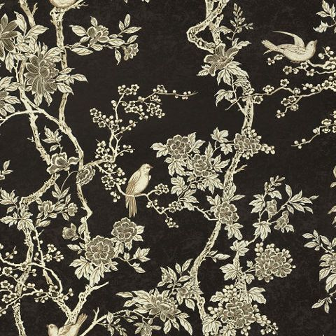 Marlowe Floral - Ebony - Floral Wallpaper - asian - wallpaper - Ralph Lauren Home. Just arrived in store this morning can't wait to use it in our next project!
