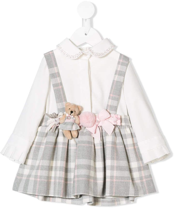 d5baeb874 Lapin House teddy bear applique dress   Products   Dresses, Applique dress,  Cotton dresses