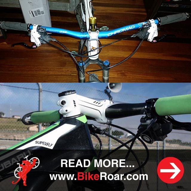 The cheapest and easiest way to transform how your mountain bike handles singletrack. This.   READ MORE: http://www.bikeroar.com/tips/the-cheapest-and-easiest-way-to-transform-how-your-mountain-bike-handles-singletrack #mtb #protip #thatwaseasy #stem #handlebars