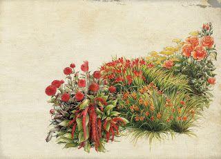 Коллекция картинок: Винтажные цветочные принты
