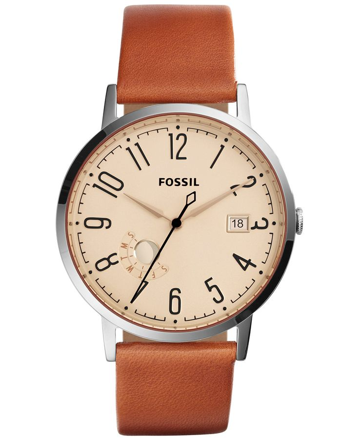 Fossil Women's Vintage Muse Tan Leather Strap Watch 40mm ES3958 - Fossil - Jewelry & Watches - Macy's