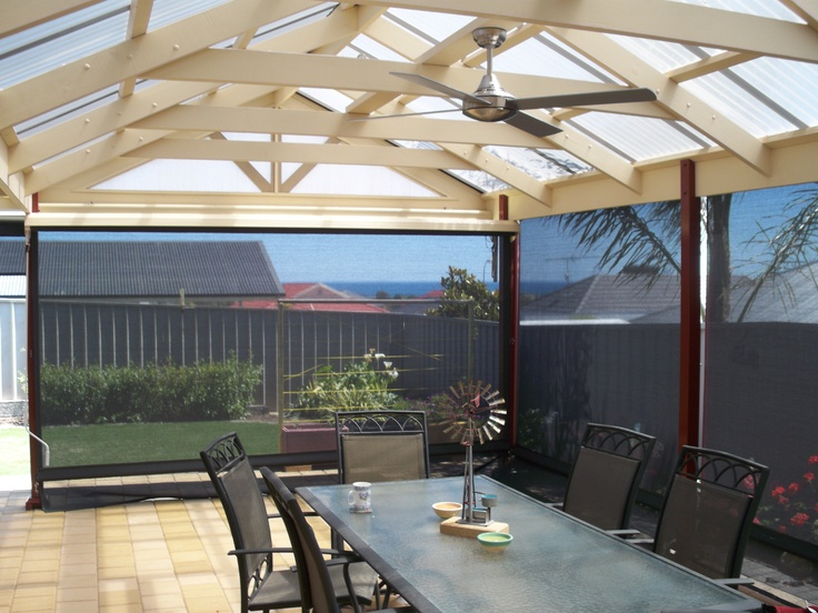 Worried about the view being spoiled by blinds during the summer? Fear not! Our blinds won't distort your view and at the same time they will protect you from UV rays! You can enjoy a meal underneath the verandah and not worry about getting burnt to a crisp. What better reason to invest in some outdoor blinds?!
