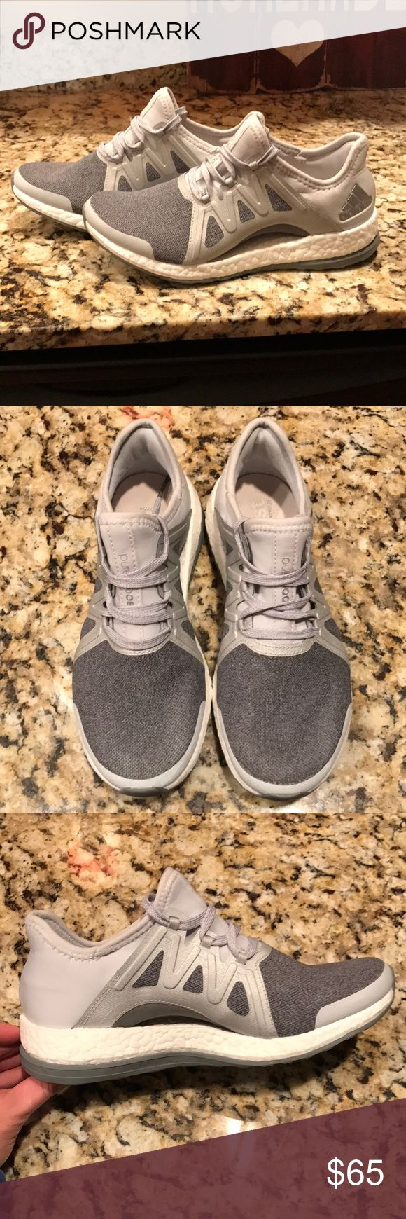 Womens adidas pure boost xpose Only worn twice to the gym. Good condition. Size 6. Grey/Silver/White. Comfortable shoe. adidas Shoes Athletic Shoes