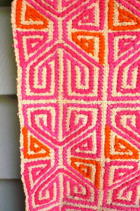 Vintage Mexican Handwoven Textile