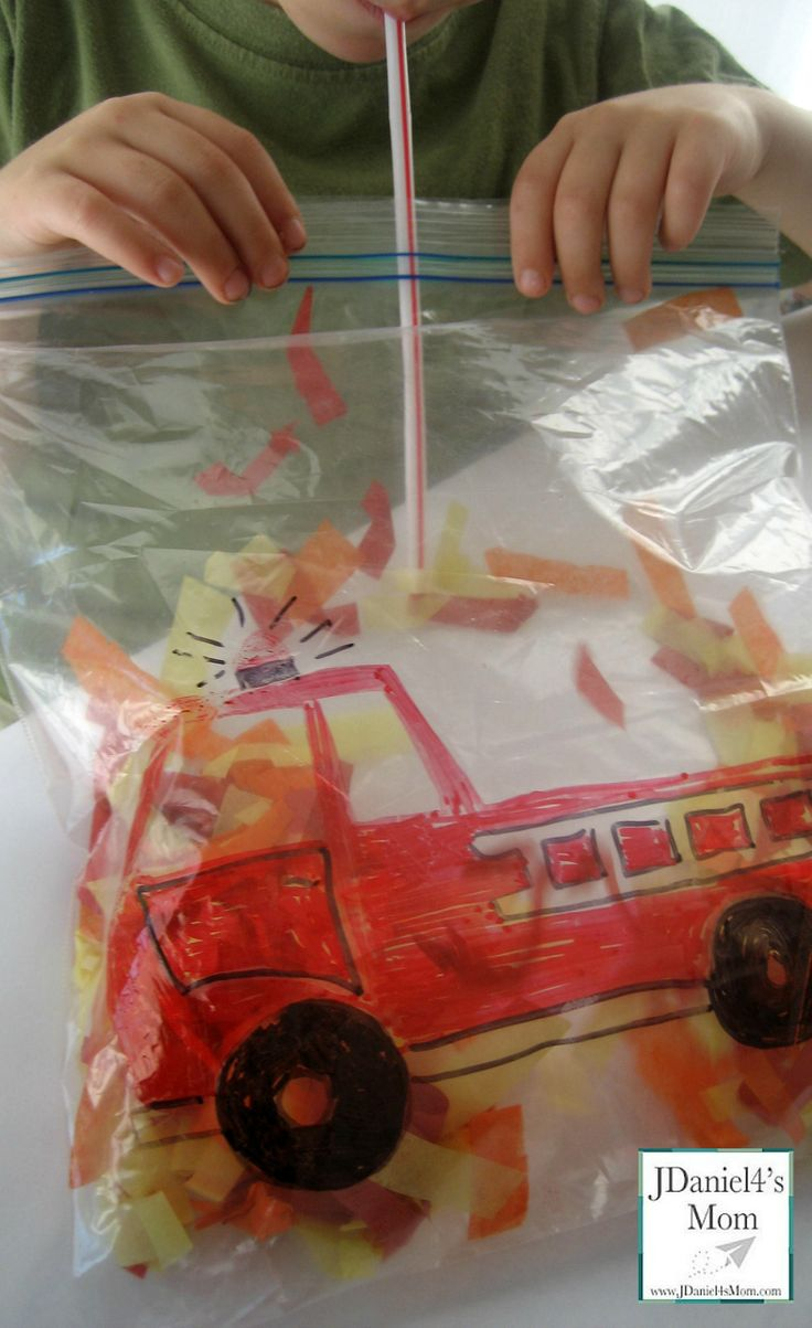 Fire Truck Activity - It would be great for Fire Safety Month in October.