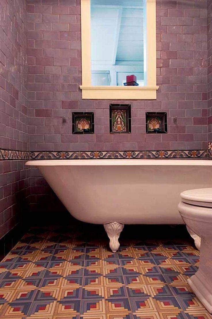 Tadelakt bathroom made by amel kadic - Dazzling Tile For Art Deco Baths