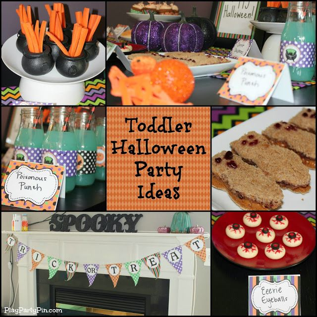 Toddler Halloween Party Ideas by playpartypin.com #Toddler #Halloween #Party