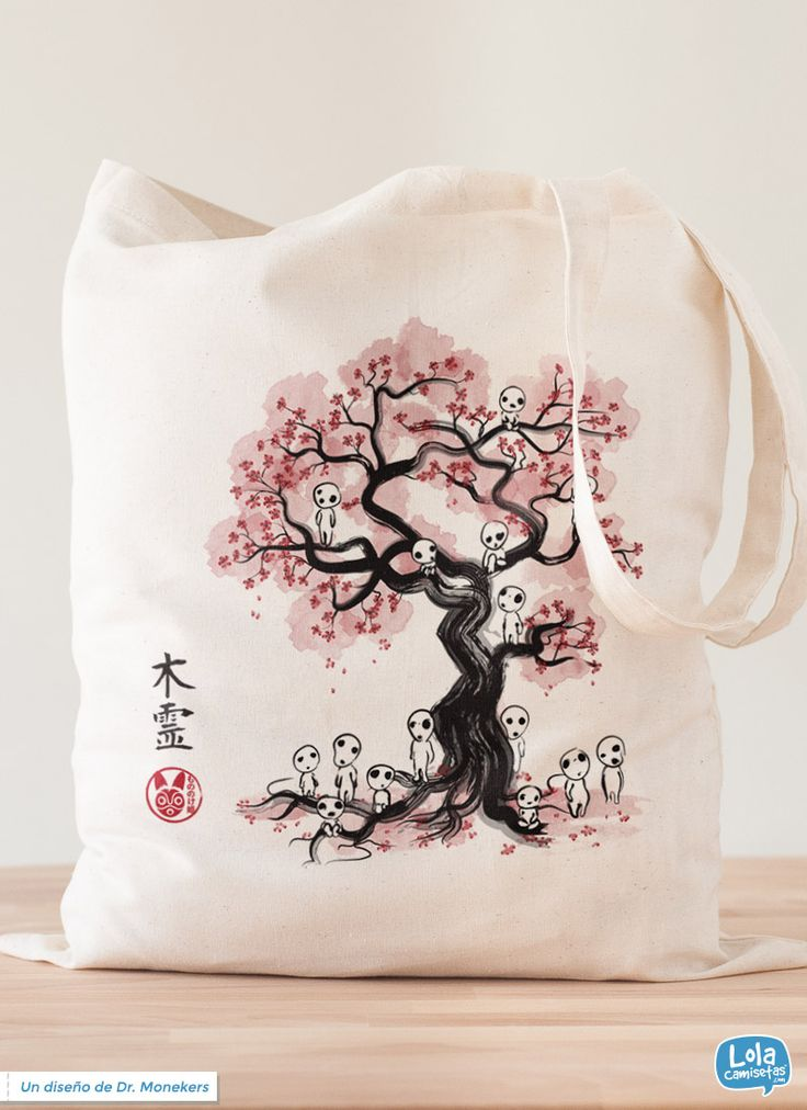 Forest spirits tote bag   Design by Dr. Monekers