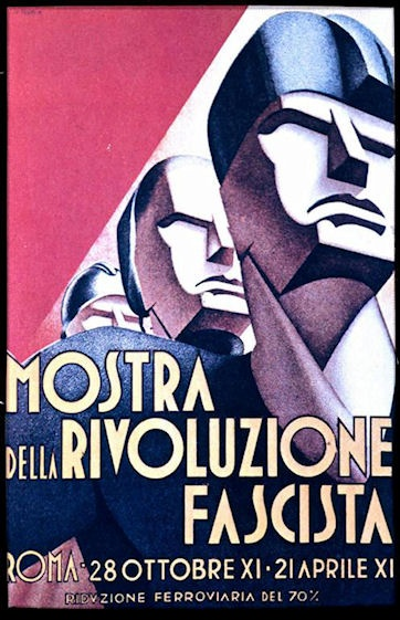 "Poster celebrating the""Fascist Revolution""."