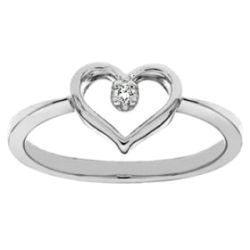 Szívalakú 1köves eljegyzési gyűrű