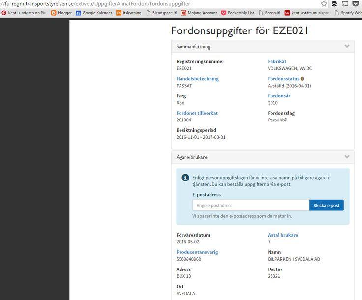 #fordonsuppgifter om Volkswagen Passat 1.4 TSI EcoFuel Variant 150-10 - regnr EZE021. Ägruppgifter https://fu-regnr.transportstyrelsen.se/extweb/  . #Ägarbyte https://agarbyte.transportstyrelsen.se/extweb/secure/logon/logon?url=https://agarbyte.transportstyrelsen.se/extweb/Secure/Agarbyte .