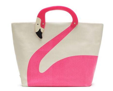 Kate Spade pink flamingo tote