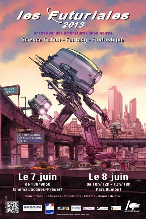 Le festival des littératures de l'imaginaire, les futuriales, à Aulnay sous Bois les 7et 8 juin, les robots seront à l'honneur