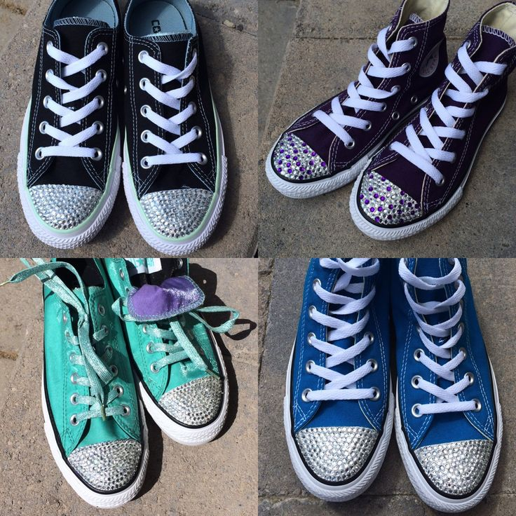 Browse unique items from TrickedKicks on Etsy, a global marketplace of handmade…  Blinged Converse Shoes, Custom Converse Shoes, Sale Converse, Custom Converse Canada