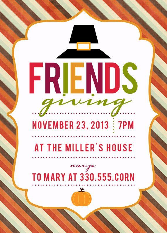 Friendsgiving Thanksgiving Invitation by LittleLesley on ...