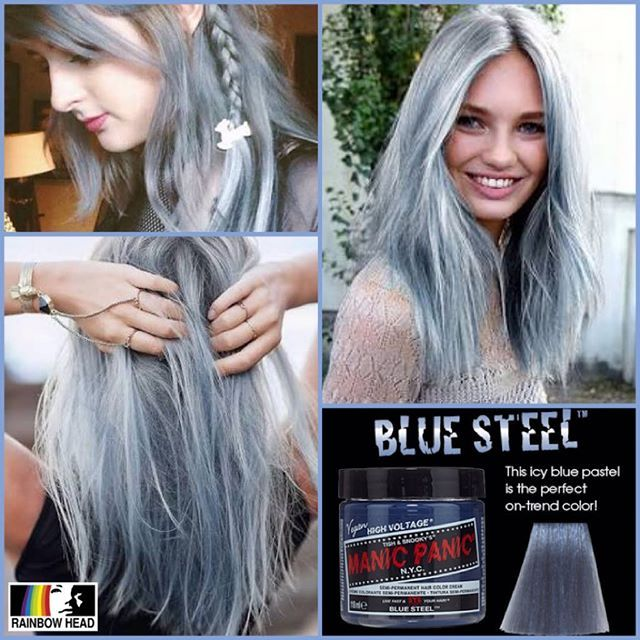 Manic Panic BLUE STEEL available at @rainbowhead_ph! Classic P750 118ml (4oz) Manic Panic ... More