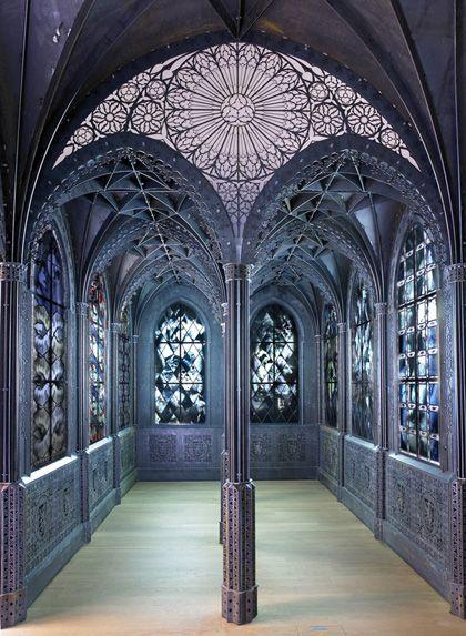 Wim Delvoye, 2006 * laser-cut corten steel, vitraux MUDAM, Luxembourg*