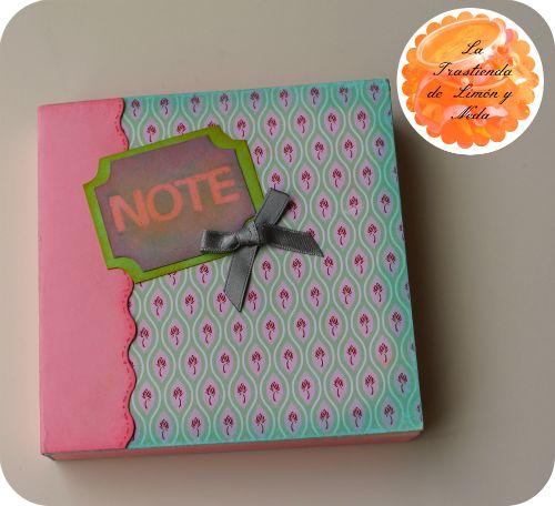 Tutorial libreta scrapeada. Diy notebook scrapbook