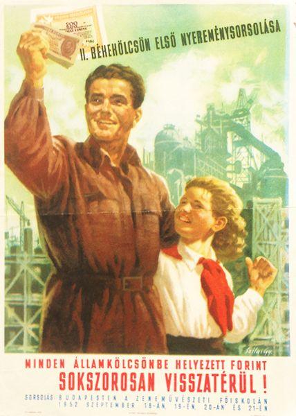 First draw of the 2nd peace loan (Szilas, Győző - 1952 - cca. 17 x 24 cm)