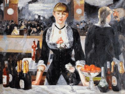 Art a bar at the folies