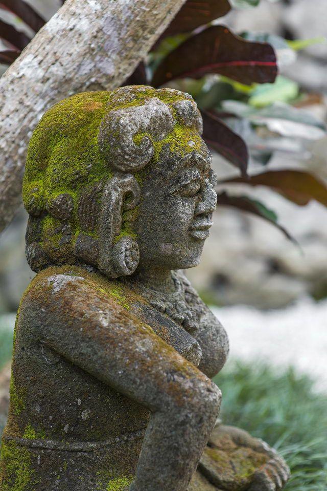 Tropical garden design at Villa Mizu by Bali Landscape Company  #bali #landscape #landscaping #landscapedesign #gardendesign #tropical #tropicalgarden #gardenideas #landscapeideas #statue