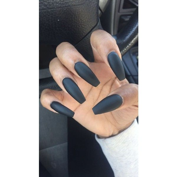 Coffin nails ❤ liked on Polyvore featuring beauty products, nail care and nail treatments
