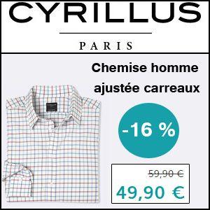 #missbonreduction; 16 % de remise sur la Chemise homme ajustée carreaux chez Cyrillus.http://www.miss-bon-reduction.fr//details-bon-reduction-Cyrillus-i228-c1830805.html