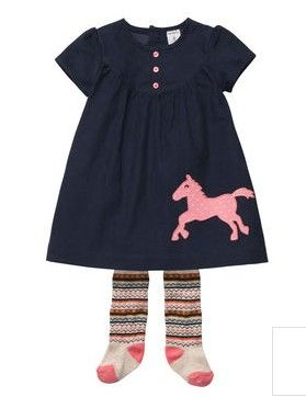 2-Piece Dress Set from Carter's.  Saddle up in this corduroy dress with cute pink pony applique and Fair Isle tights.  Get your rebate from RebateGiant.