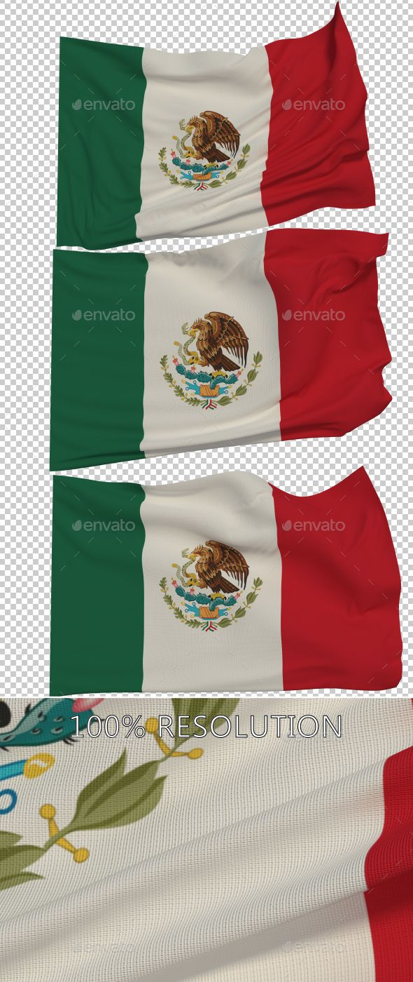 Flag of Mexico - 3 Variants