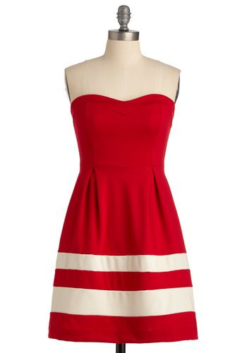 Wheel Be There Soon: Summer Dresses, Red And White, Games Day Dresses, Red Dresses, Bridesmaid Dresses, Modcloth, 4Th Of July, Closet, Stripes