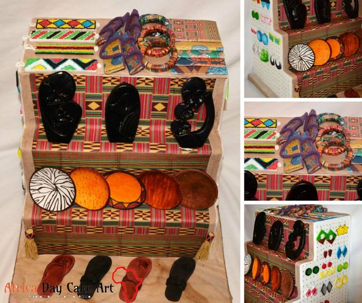 NyAlice Dzapasi (Double 'D' Delights) created this intricate and very detailed decorative display piece to celebrate #africaday with #africadaycakeart.  She explains her piece by saying;  'Umuntu ngumuntu ngabantu' is a Zulu proverb meaning a person is a person through other people. Ubuntu is about togetherness, the spirit of reciprocal living in a community which leads to a successful society. My piece is titled UBUNTU MARKET – BRINGING PEOPLE TOGETHER THROUGH COMMERCE.