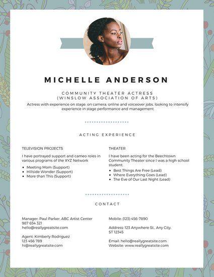 Artist Agent Sample Resume Extraordinary 81 Best Cv Ideas Images On Pinterest  Resume Templates Resume .