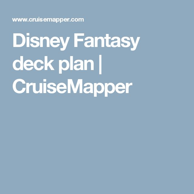 Disney Fantasy deck plan | CruiseMapper