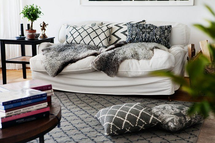 Cushions and rug from Chhatwal & Jonsson