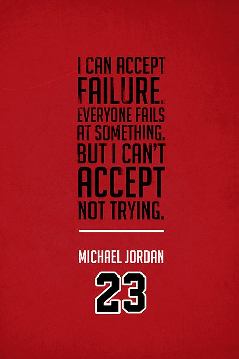 ''Michael Jordan Quote on Print. See more at www.finesportsprints.com