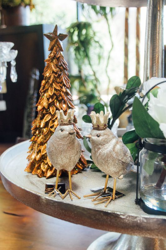 A Partridge (or Two) And A Gold Tree! Loving All The Festive Decorations · Consignment  FurnitureScottsdale ArizonaPartridge