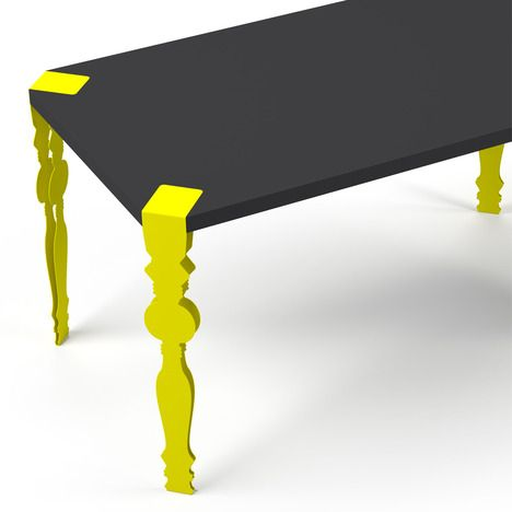 product: Yellow Silhouette, Living Room, Table Design