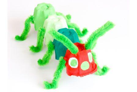 Spring crafts for kidsCrafts For Kids, Colors Crafts, Crafts Ideas, Eggs Cartons Crafts, Kids Crafts, Child Care, Ants Kids, Crafts Stores, Spring Crafts