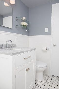 Cleveland Park Small Bathroom Remodel - traditional - bathroom - dc metro - Meg Tawes Kitchens, Bathrooms, and Interiors