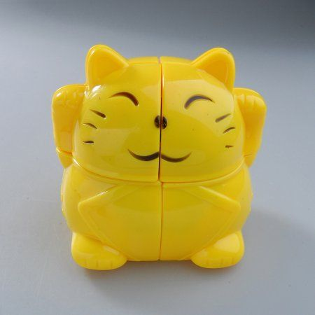 2x2x2 YJ Lucky Fortune Yellow Cat Cube Plutus Cat Puzzle New 2x2