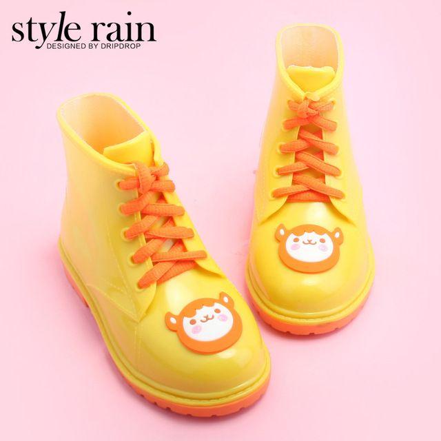 여자 rainboots 새로운 색상 어린이 장화 아이 브랜드 디자이너 방수 아이 마틴 부츠 물 신발 rainboots q065