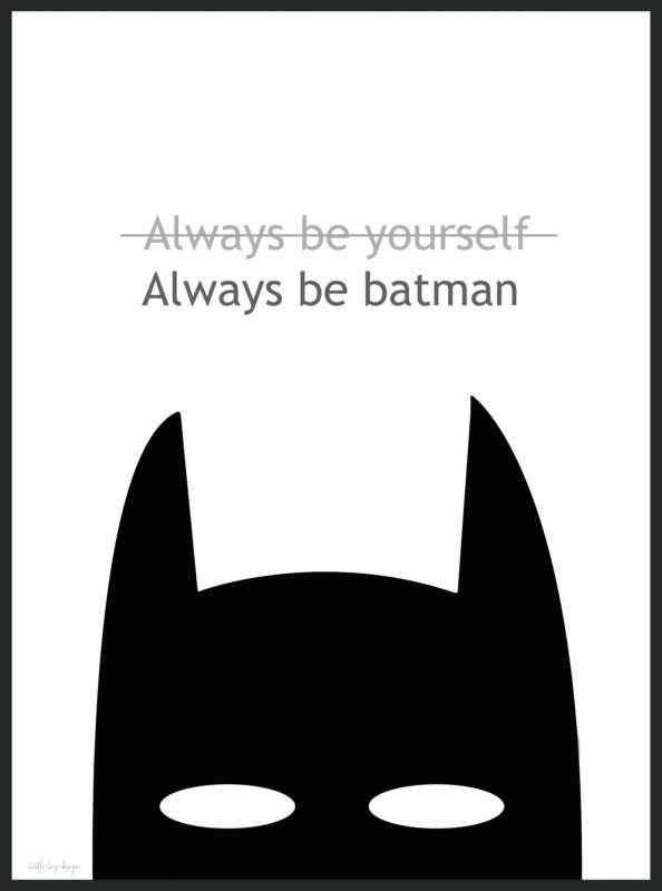 always be batman poster