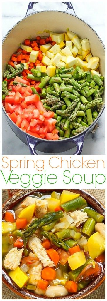 "Healthy and delicious! Spring Chicken Vegetable Soup - ""we make this every week!"""
