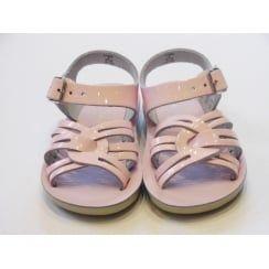 Strapwee Toddler Girls Pink Patent Salt Water Sandals